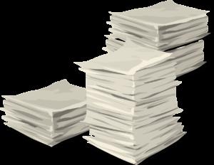 Glücklicher Zufall - Papierstapel