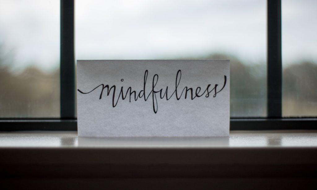 Bild von Wort: Mindfulness
